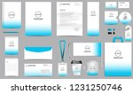 corporate identity set.... | Shutterstock .eps vector #1231250746