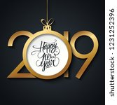 2019 happy new year greeting... | Shutterstock .eps vector #1231252396