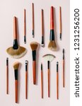 different makeup brushes on... | Shutterstock . vector #1231256200