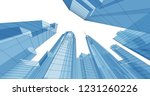 city  architecture abstract  3d ... | Shutterstock . vector #1231260226
