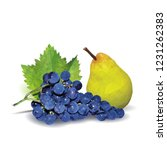 fresh grapes  nutritious and... | Shutterstock .eps vector #1231262383