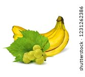 fresh grapes  nutritious and... | Shutterstock .eps vector #1231262386