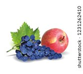 fresh grapes  nutritious and... | Shutterstock .eps vector #1231262410