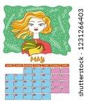 calendar 2019. month. beautiful ... | Shutterstock .eps vector #1231266403
