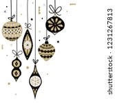 christmas decorations balls.... | Shutterstock .eps vector #1231267813