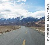 wild field highway  | Shutterstock . vector #1231274506