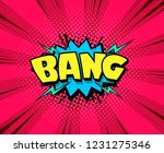 comic book expression speech... | Shutterstock .eps vector #1231275346