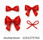 bows set isolated on... | Shutterstock .eps vector #1231275763