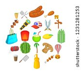 touristic space icons set.... | Shutterstock .eps vector #1231281253