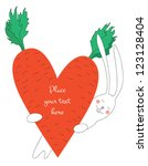 vector valentine card with... | Shutterstock .eps vector #123128404