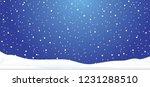 hello winter blue winter... | Shutterstock .eps vector #1231288510