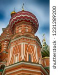 colorful domes at saint basil's ... | Shutterstock . vector #1231289200