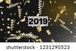 2019 new year confetti... | Shutterstock .eps vector #1231290523
