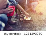 people camping at national park ... | Shutterstock . vector #1231293790