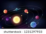 space background with planetts... | Shutterstock .eps vector #1231297933