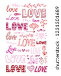 love lettering vector set. cute ... | Shutterstock .eps vector #1231301689