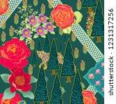cushion design pattern inspired ... | Shutterstock . vector #1231317256
