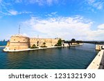 aragonese castle of taranto and ... | Shutterstock . vector #1231321930