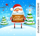 merry christmas  santa claus... | Shutterstock .eps vector #1231323640