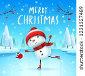 merry christmas  cheerful... | Shutterstock .eps vector #1231327489