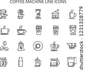simple set of coffee machine... | Shutterstock .eps vector #1231328779