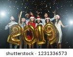 multiracial friends holding... | Shutterstock . vector #1231336573