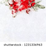christmas decoration. gift box  ... | Shutterstock . vector #1231336963