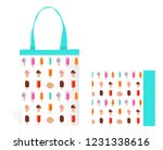 eco bag with colorful ice creams | Shutterstock .eps vector #1231338616