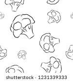 broccoli seamless pattern. set... | Shutterstock .eps vector #1231339333