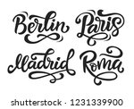 paris  berlin  madrid  rome... | Shutterstock .eps vector #1231339900