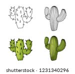 cactus hand drawing and colored ...   Shutterstock .eps vector #1231340296