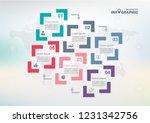 infographic element data for... | Shutterstock .eps vector #1231342756
