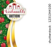 german text weihnachtsaktion ... | Shutterstock .eps vector #1231344100