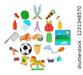 aestival icons set. cartoon set ...   Shutterstock .eps vector #1231348570