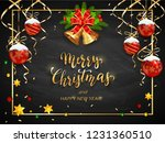 christmas card with holiday... | Shutterstock . vector #1231360510