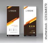 roll up banner stand brochure... | Shutterstock .eps vector #1231368370