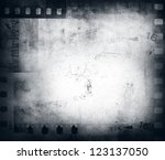 film negatives frame  copy space | Shutterstock . vector #123137050
