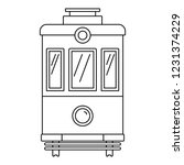front view tram icon. outline... | Shutterstock .eps vector #1231374229