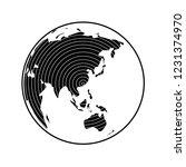 globe earth map icon vector... | Shutterstock .eps vector #1231374970