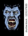rage of wolf | Shutterstock .eps vector #123137830