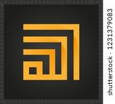 islamic square kufi calligraphy ... | Shutterstock .eps vector #1231379083