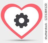 vector icon cogwheel | Shutterstock .eps vector #1231384120