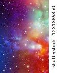 astrology mystic galaxy... | Shutterstock .eps vector #1231386850