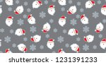 seamless pattern with santa... | Shutterstock .eps vector #1231391233