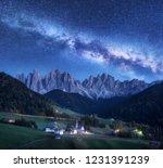 santa maddalena and milky way... | Shutterstock . vector #1231391239