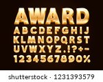 font golden symbol  gold letter ... | Shutterstock .eps vector #1231393579