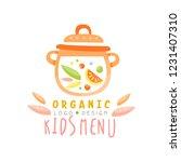 organic kids menu logo design ...   Shutterstock .eps vector #1231407310