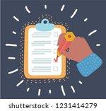 vector cartoon illustration of... | Shutterstock .eps vector #1231414279