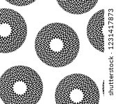 black and white minimal... | Shutterstock .eps vector #1231417873
