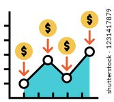 line chart with dollar icon and ...   Shutterstock .eps vector #1231417879
